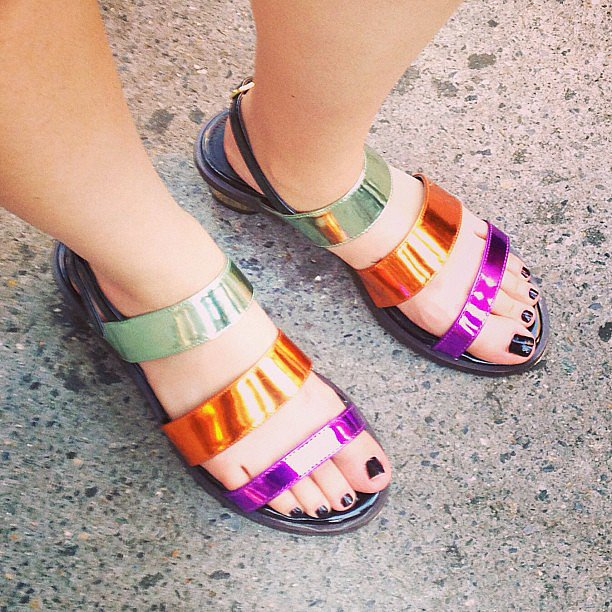 How adorable were these shoes we spotted on one of our favorite street-style stars?