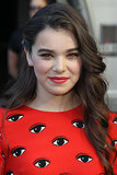Hailee Steinfeld went for an asymmetrical style to debut her movie Ender's Game at Comic-Con. Her makeup was a mix of rosy hues, but you really can't miss her Marvel-themed nail art.