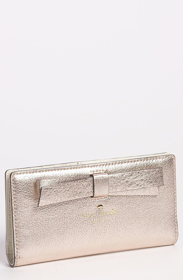 A sweet bow makes this Kate Spade New York metallic wallet ($132, originally $198) even girlier.