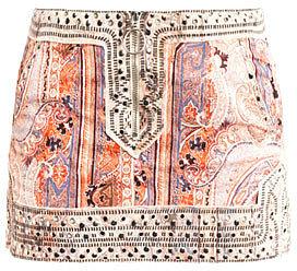 Isabel Marant Jinny paisley studded mini skirt