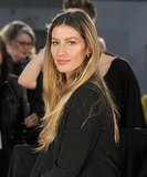 With seriously chic ombré hair, Gisele walked in designer Alexander Wang's Fall 2012 show at New York Fashion Week.