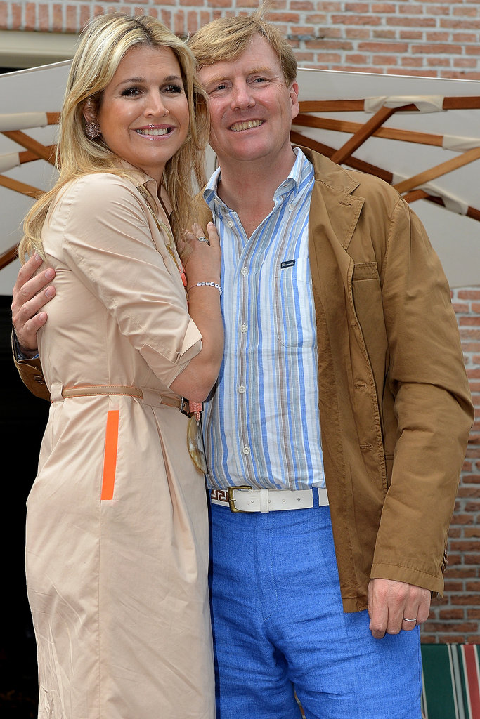 King Willem-Alexander had his arm around Queen Maxima for a sweet picture.