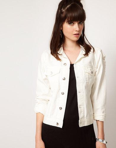 Cheap Monday Distressed Denim Jacket
