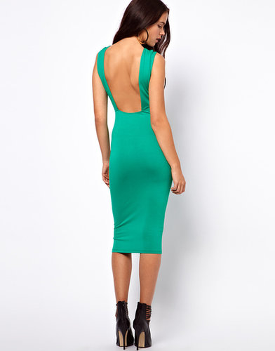 ASOS Midi Sleeveless Square Back Dress