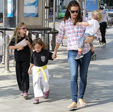 Jennifer Garner went shopping with her children in LA.