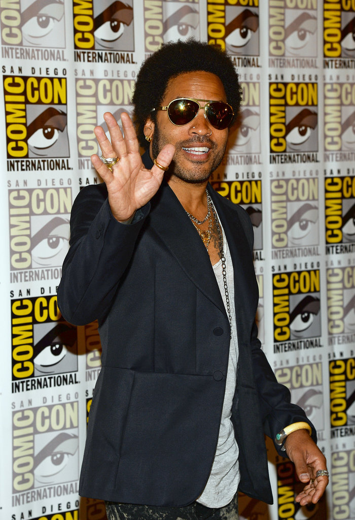 Lenny Kravitz waved to fans.