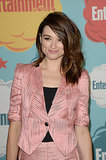 A seriously sideswept style looked fun and funky on actress Crystal Reed.