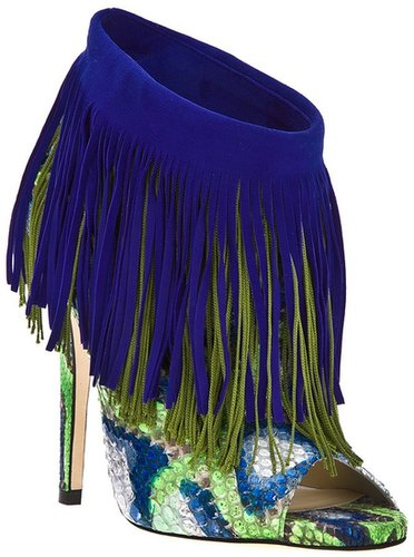 Jimmy Choo fringed ankle boot