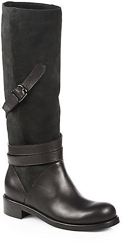Jimmy Choo Darla Suede & Leather Knee-High Boots