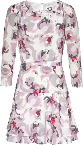 Giselle ROSE PRINT SILK DRESS