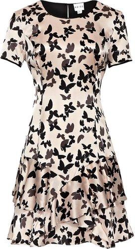 Roe BUTTERFLY PRINT SILK DRESS