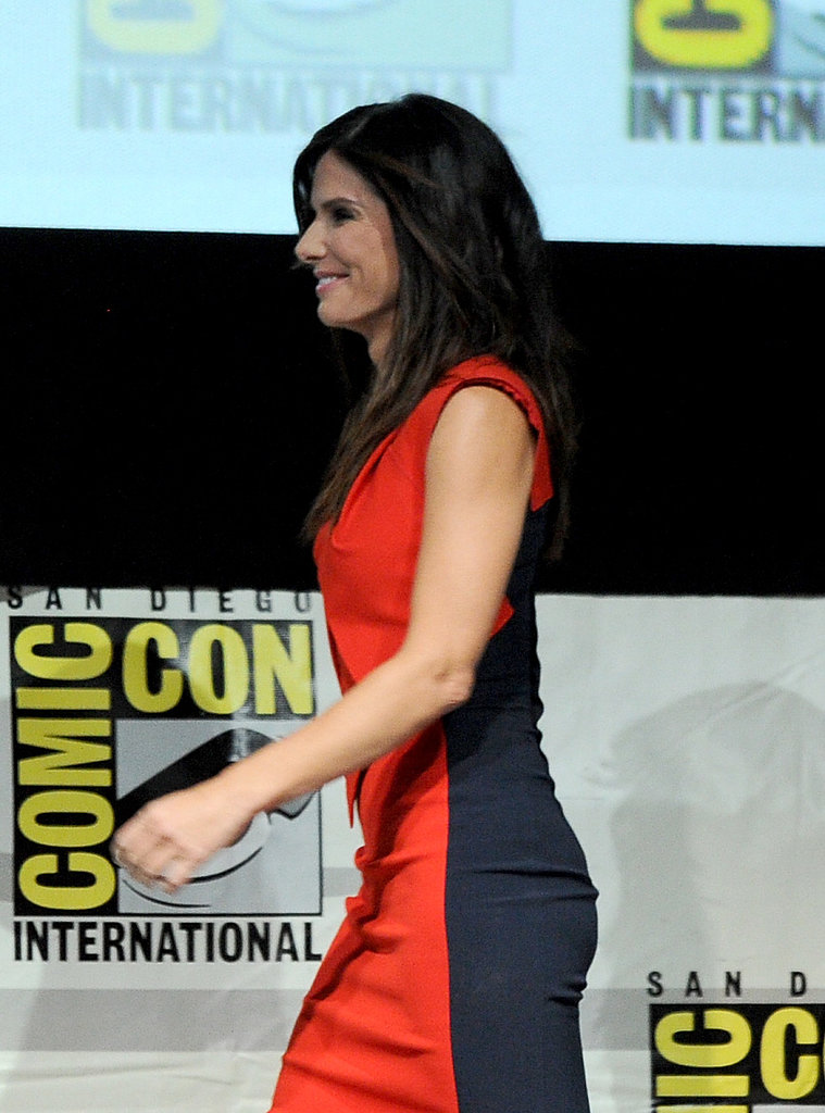 Sandra Bullock arrived for the Gravity panel.