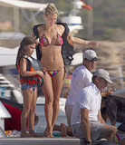Bikini-Clad Bar Refaeli Shows Off Her Six-Pack in Spain
