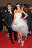 Orlando and Miranda went fancy for the Alexander McQueen: Savage Beauty-themed Met Gala in NYC in May 2011.