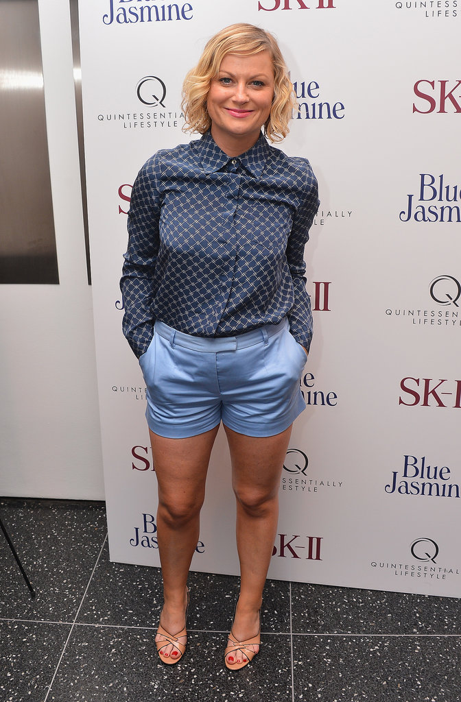 Amy Poehler sported shorts to the Blue Jasmine premiere in NYC.