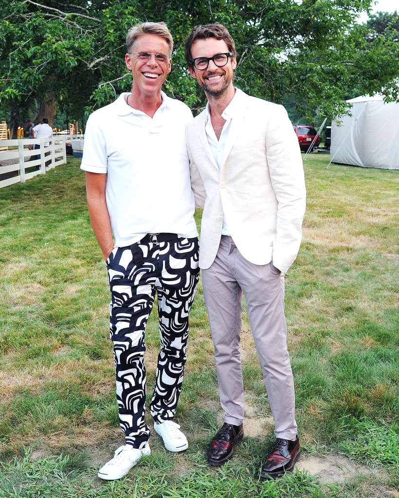 At the Coach East Hampton event for Acria, Stuart Shining and Brad Goreski looked dapper in slim trousers.