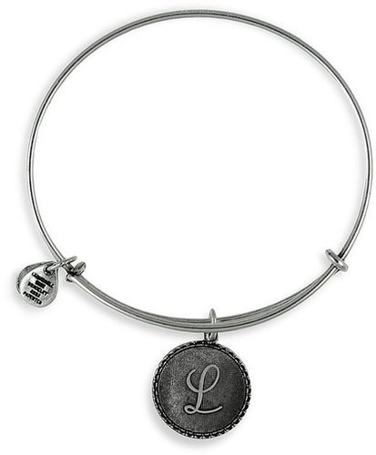 Alex and Ani Script Initial Expandable Wire Bangle I