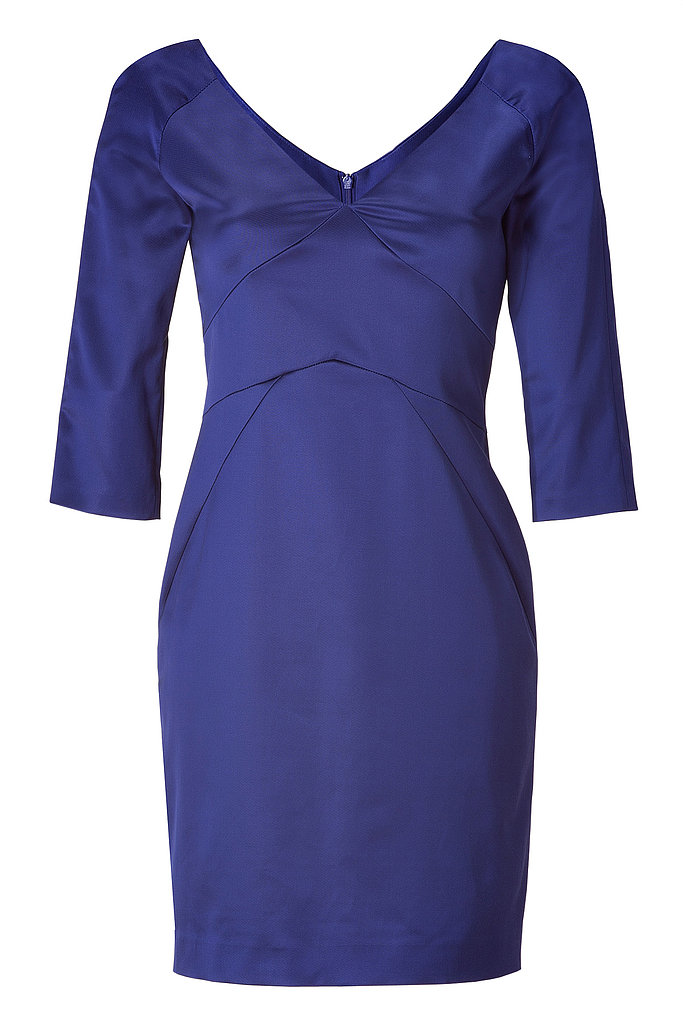 With a modified empire waist, this Tara Jarmon dress ($430) will look great on a postbaby body — and done in satin, it's perfect for a more formal event!