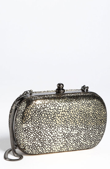 Inge Christopher Metallic Stingray Embossed Clutch