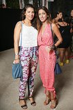 These showgoers kicked off Swim Week at Roxy x Mercedes Benz Fashion Week's fete in a sweet print and a breezy jumpsuit, respectively.  Source: David X Prutting/BFAnyc.com