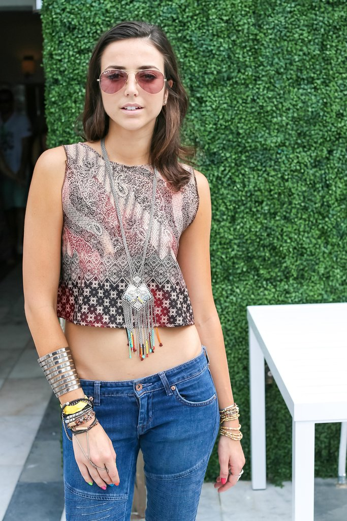 Give your crop top the boho treatment with antique-feeling jewels. Source: David X Prutting/BFAnyc.com