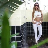 She looked white-hot in a crop top and superskinny jeans. Source: David X Prutting/BFAnyc.com
