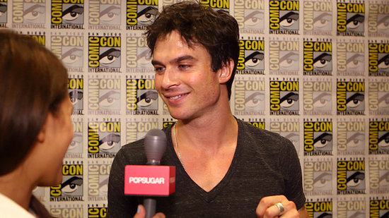 "The Vampire Diaries' Ian Somerhalder Says Damon Is ""Trying to Make It Work With a College Girl"""