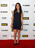 Olivia Munn stepped out for the Kick-Ass 2 even in a collared minidress and Anita Ko and Lucifer Vir Honestus jewels.