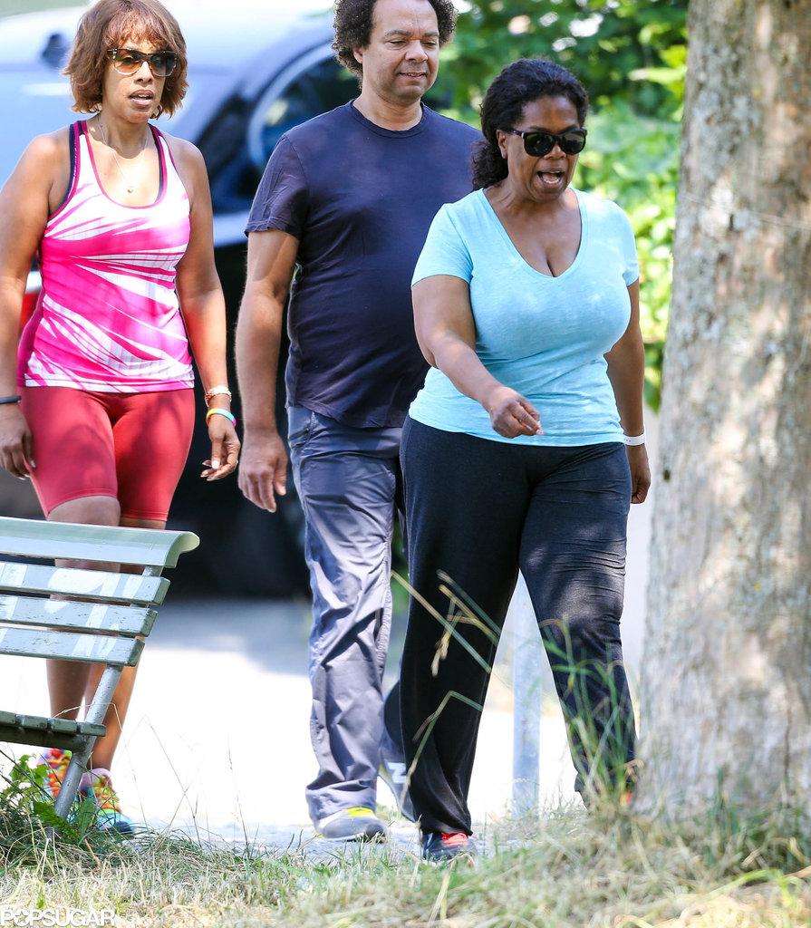 Oprah Winfrey and Gayle King walked around Tina Turner's estate.