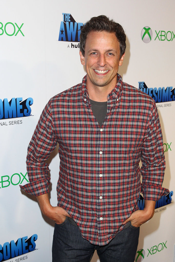 Seth Meyers went to Comic-Con to talk about his new project, The Awesomes.
