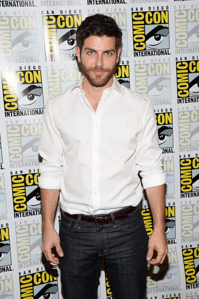 David Giuntoli posed for photographs at the press line for Grimm.