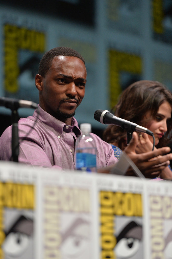 Anthony Mackie spoke at the panel for Captain America: The Winter Soldier.