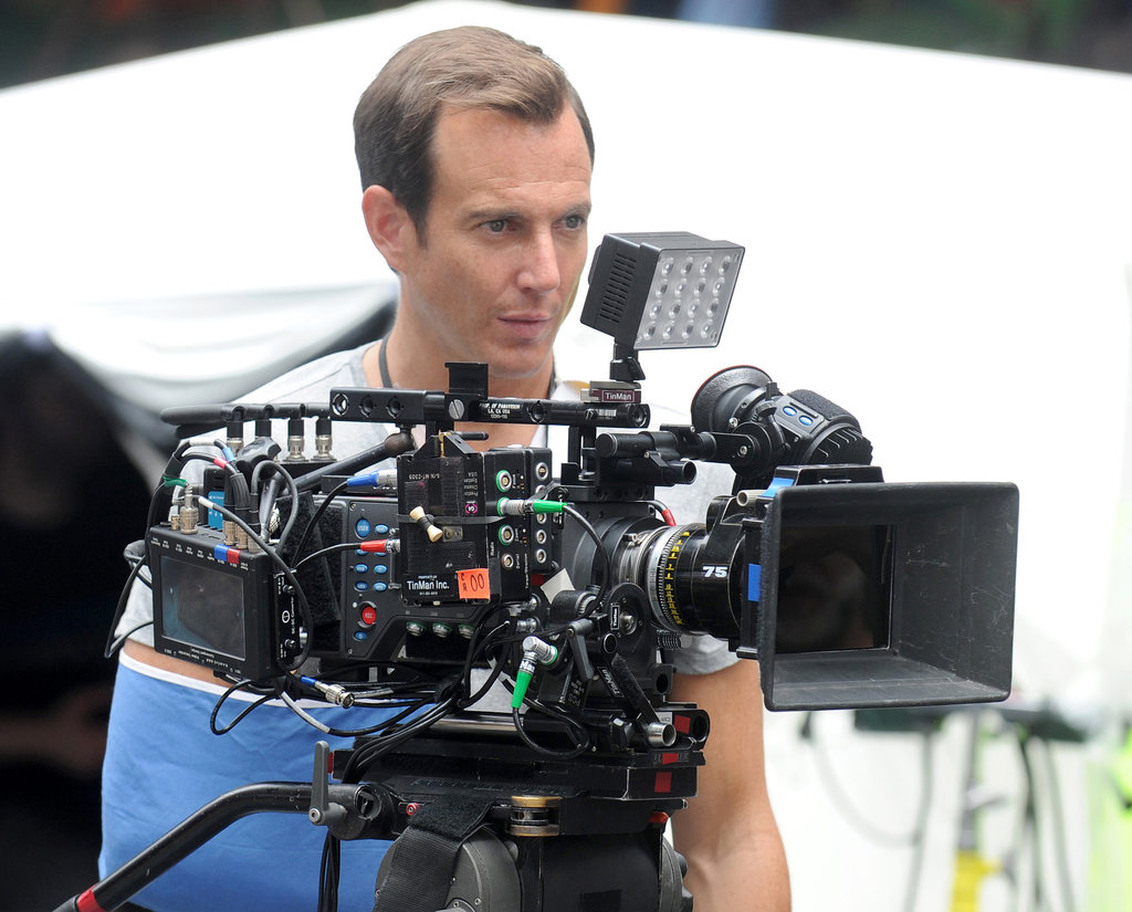 Will Arnett stood behind camera on the set of Teenage Mutant Ninja Turtles in NYC on Monday.