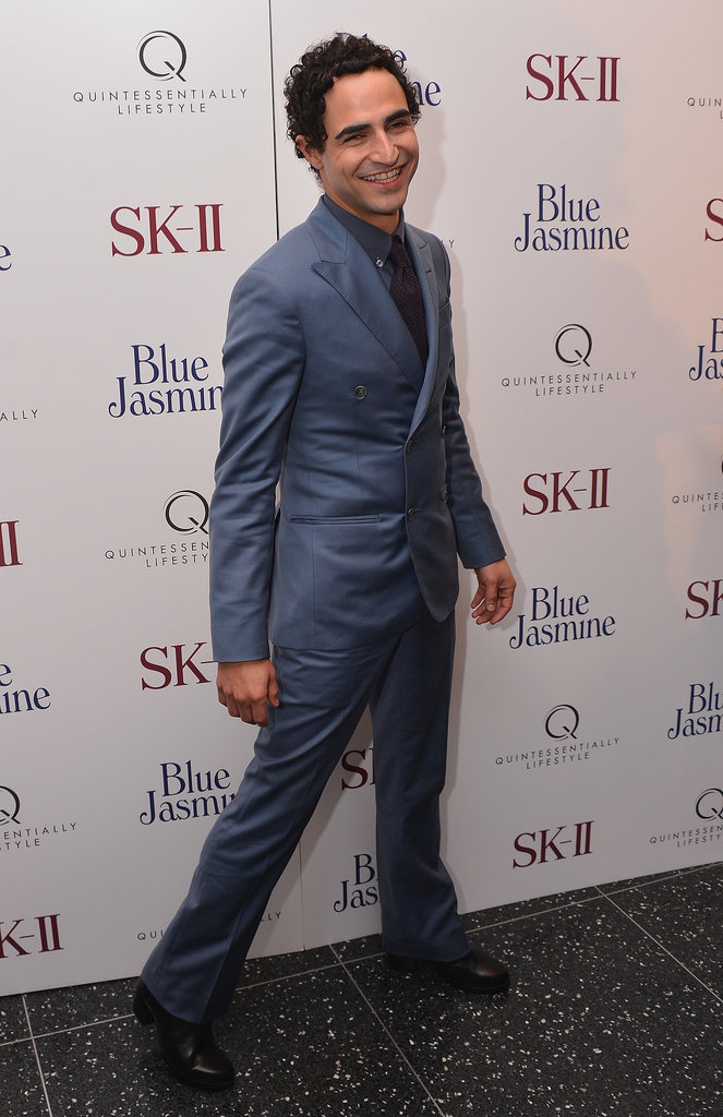 The photographers caught a well-suited Zac Posen en route into the Blue Jasmine premiere.
