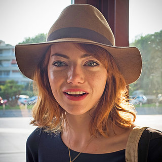 Emma Stone Red Hair Lob 2013