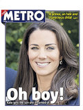 The front page of Metro, from England, on July 23.