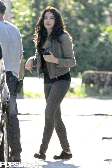 Jenna Dewan wore a green jacket on the set of Witches of East End in Vancouver.