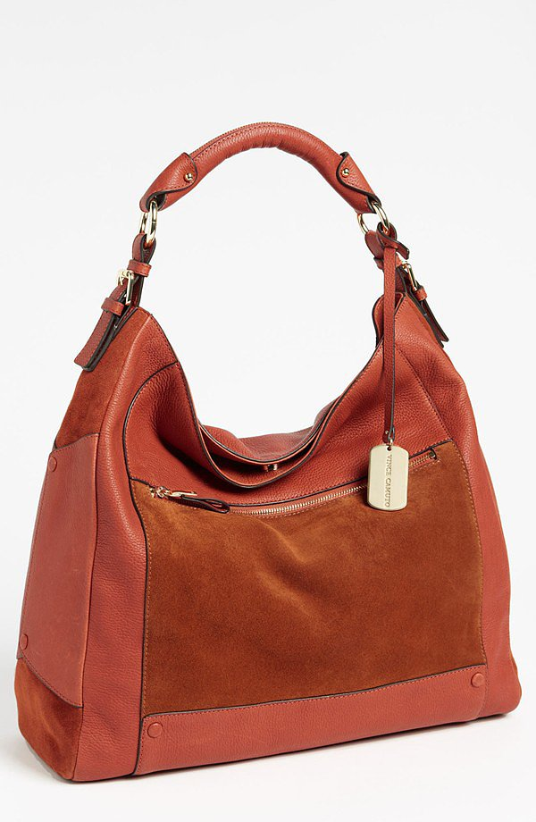 Leather and suede combine for this practical and pretty Vince Camuto hobo ($186, originally $278).