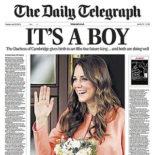Royal Baby's Birth on Newspaper Covers | Photos