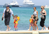 Nicole Richie, Joel Madden, and their kids Sparrow Madden and Harlow Madden walked along the beach in St. Tropez.