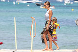 Nicole Richie took her daughter Harlow to the beach.