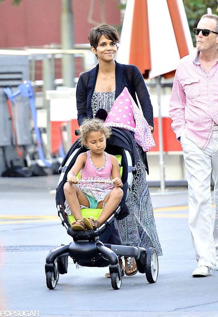 Halle Berry Takes Her Little Princess to the Happiest Place on Earth