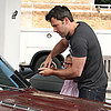 Ben Affleck and Violet at the Gas Station | Photos