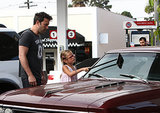 Ben Affleck shared an adorable moment with Violet when he helped her wash the windshield of his vintage Chevy Malibu SS in Malibu, CA. Cue the awws.