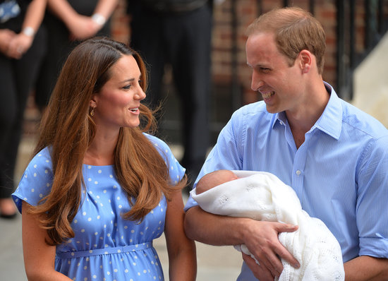 "Holding his son, Prince William noted, ""He's a big boy. He's quite heavy!"""