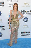Jennifer Lopez wore a sparkly, low-cut gown to the Billboard Music Awards in May 2013.