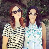 Mandy Moore logged time with her designer pal, Rebecca Minkoff. Source: Instagram user rebeccaminkoff
