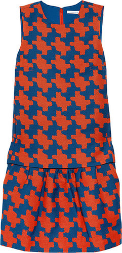 Diane von Furstenberg Veronica houndstooth-print twill dress