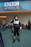This cosplayer is armored up and ready for action.