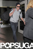 Robert Pattinson walked through LAX.